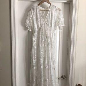 White, boho maternity dress - worn once!